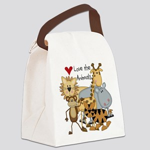 LOVETHEANIMALS Canvas Lunch Bag