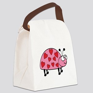 LUCKYHEARTBUG Canvas Lunch Bag