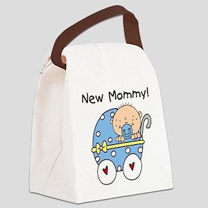 BUGGYNEWMOMBABYBOY Canvas Lunch Bag