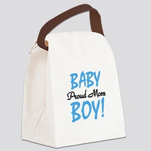 BABYBOYPROUDmom Canvas Lunch Bag
