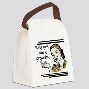 whyyesgrandma Canvas Lunch Bag