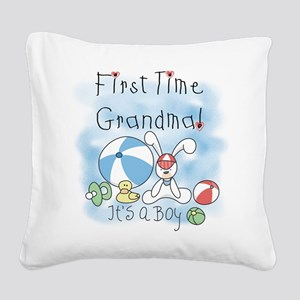 FIRSTTIMEGMABEACHBALL Square Canvas Pillow