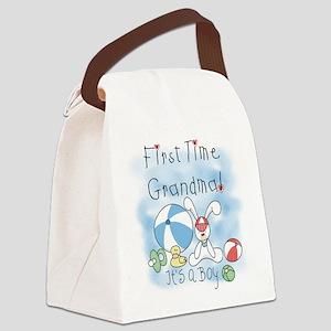 FIRSTTIMEGMABEACHBALL Canvas Lunch Bag
