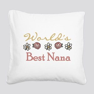 World's Best Grandma Square Canvas Pillow