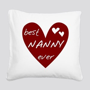 redbesNANNY Square Canvas Pillow