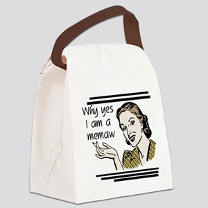 whyyesmemaw Canvas Lunch Bag