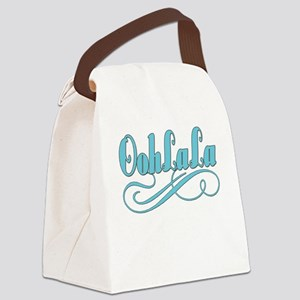 BLUEoohlala copy Canvas Lunch Bag
