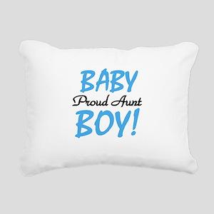 BABYBOYPROUDAUNT Rectangular Canvas Pillow