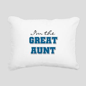 bluegreatAUNT Rectangular Canvas Pillow