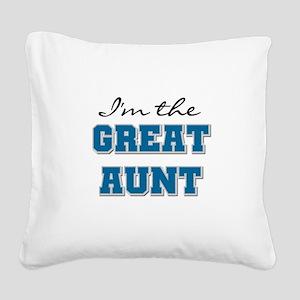 bluegreatAUNT Square Canvas Pillow