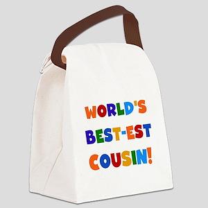 World's Best-est Cousin Canvas Lunch Bag