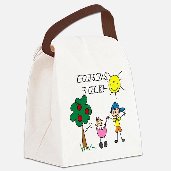 cousinsrock7.png Canvas Lunch Bag
