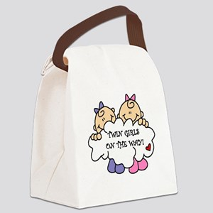 twingirlsontheway Canvas Lunch Bag