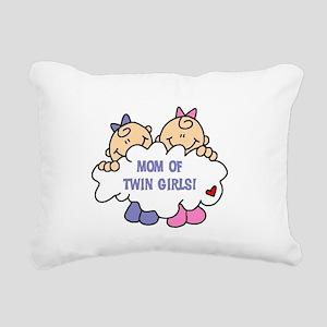 MOMTWINGIRLSTEE Rectangular Canvas Pillow