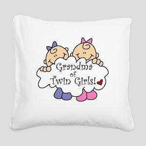 grandmatwingirlsimget Square Canvas Pillow