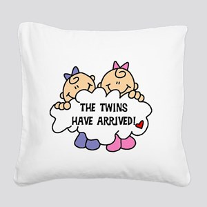 TWINSARRIVED3 Square Canvas Pillow