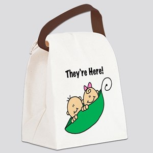 theyareheretwinstee Canvas Lunch Bag