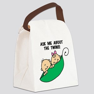 ASKABOUTTWINSTEE Canvas Lunch Bag