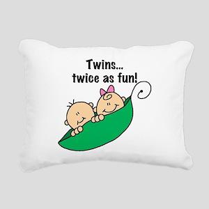 twinstwiceasfun23 Rectangular Canvas Pillow