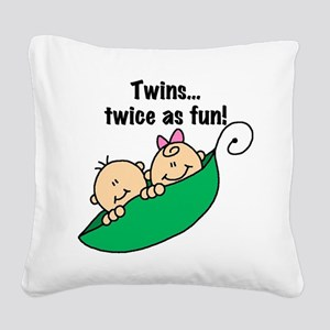 twinstwiceasfun23 Square Canvas Pillow