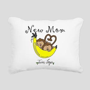 MONKEYTWINBOYSmomm Rectangular Canvas Pillow