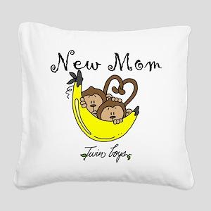 MONKEYTWINBOYSmomm Square Canvas Pillow