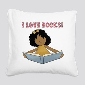 aFRIcanamericanlovebooks Square Canvas Pillow