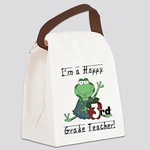 Hoppy 3rd Grade Teacher Canvas Lunch Bag