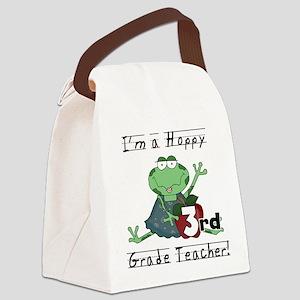 Hoppy 3rd Grade Teacher Canvas Lunch Bag
