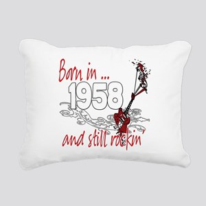 Birthyear 1958 copy Rectangular Canvas Pillow