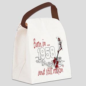 Birthyear 1958 copy Canvas Lunch Bag