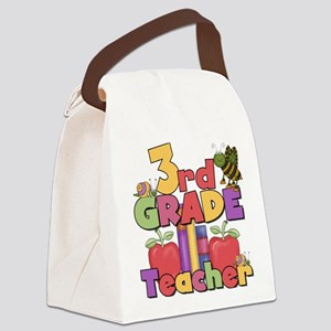 BASICTEACHERAPPLES3rd Canvas Lunch Bag