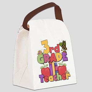 BASICTEACHERAPPLES3rd Canvas Lunch Bag