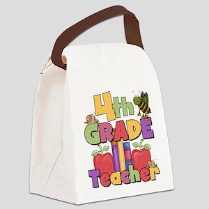 BASICTEACHERAPPLES4 Canvas Lunch Bag