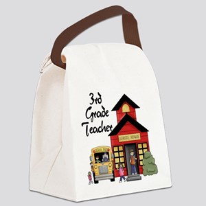 schoolhouse3rdgrade Canvas Lunch Bag