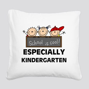 SCHOOLISCOOLKINDERGARTEN Square Canvas Pillow