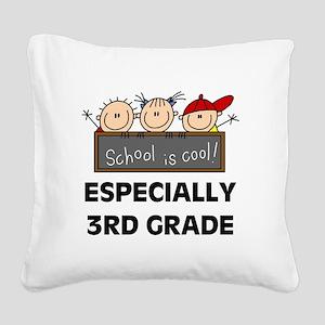 SCHOOLCOOL3RD Square Canvas Pillow