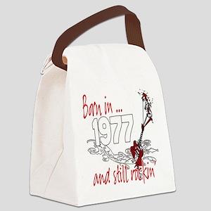 Birthyear 1977 copy Canvas Lunch Bag