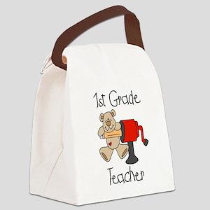 sharp1stgradetacher Canvas Lunch Bag