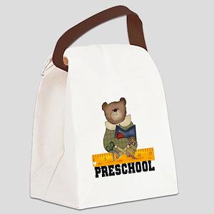 SCHOOLBEARPRESCHOOL Canvas Lunch Bag