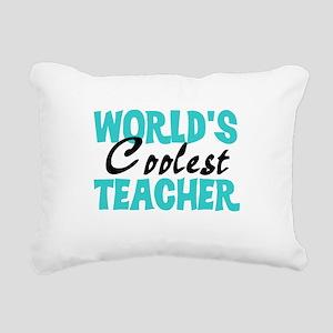 World's Coolest Teacher Rectangular Canvas Pillow