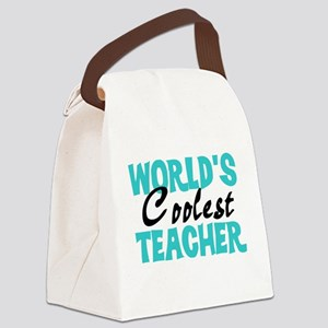 World's Coolest Teacher Canvas Lunch Bag