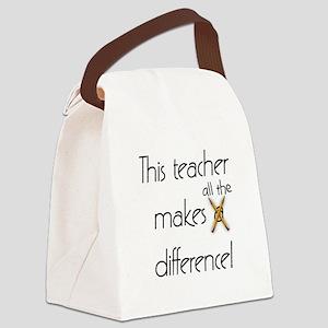 This Teacher Canvas Lunch Bag