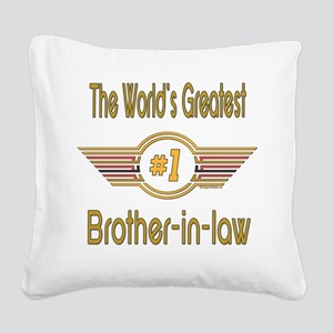 GREENbrotherinlaw Square Canvas Pillow
