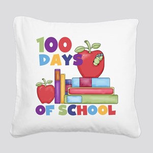 Books 100 Days Square Canvas Pillow