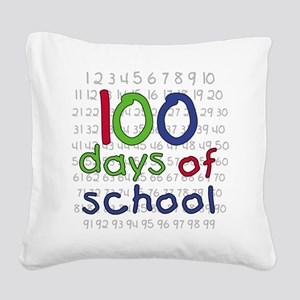 100daysnumbers Square Canvas Pillow
