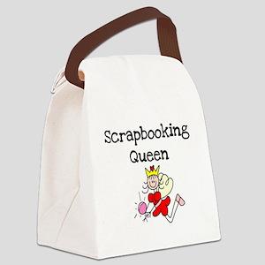 scrapbookqueenstick Canvas Lunch Bag