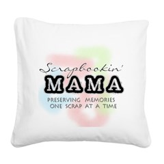 scrapbookinmama.png Square Canvas Pillow