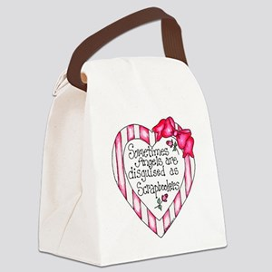Angel Scrapbooker Canvas Lunch Bag