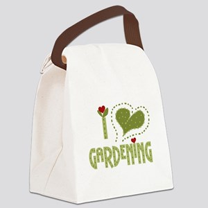 I Love Gardening Canvas Lunch Bag